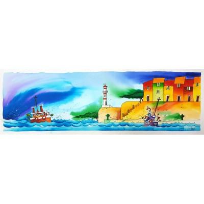 gonzi - brodovi, akvarel 24