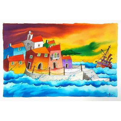 gonzi - brodovi, akvarel 23
