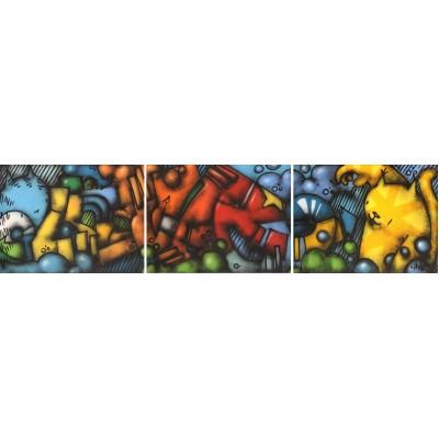 Lunar - grafit triptih 04