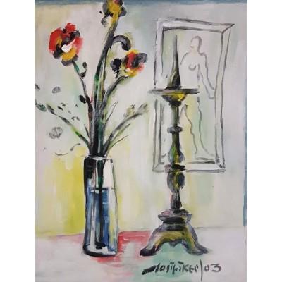 Škerlj - vaza s cvijećem 04