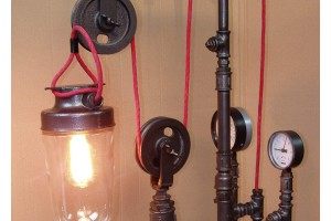 Pipe Lamps -Steampunk Industrial Design